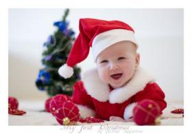 Счастливый ребенок с Новым Годом